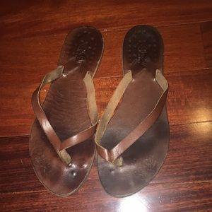 J.Crew Leather Thong Flip Flop Sandals